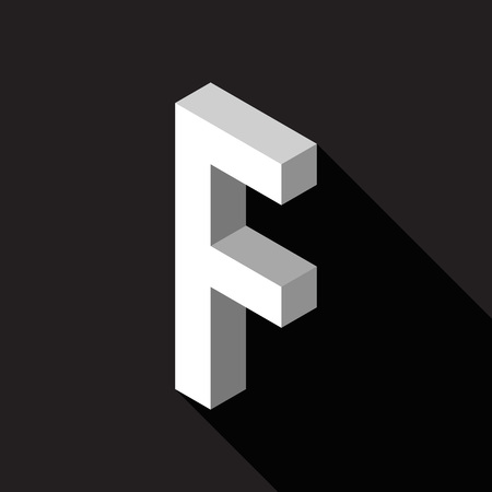 3d Letter F logo icon design template element. Vector illustration