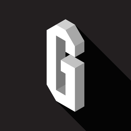 3d Letter G logo icon design template element. Vector illustration Stock Illustratie