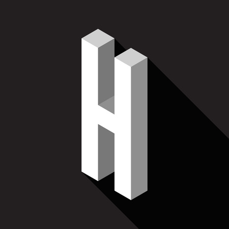 3d Letter H logo icon design template element. Vector illustration Stock Illustratie