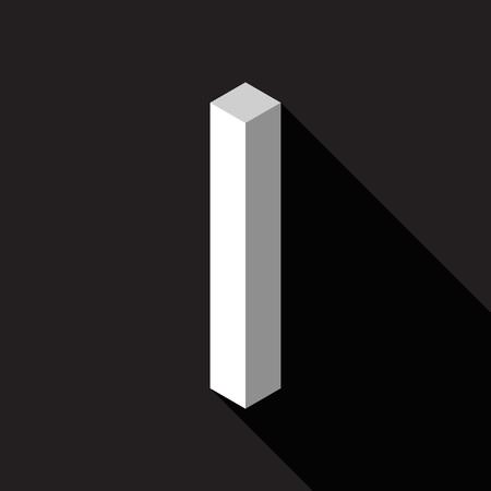 3d Letter I logo icon design template element. Vector illustration