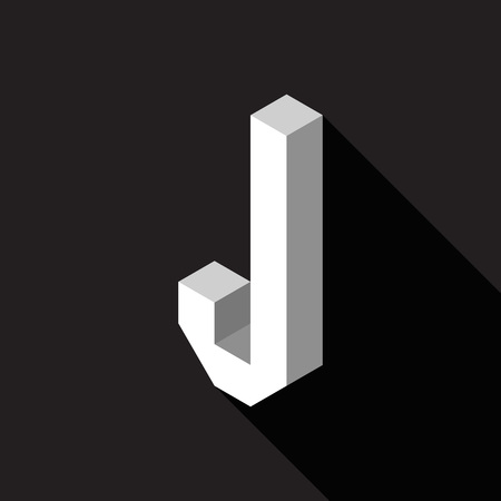 3d Letter J logo icon design template element. Vector illustration Stock Illustratie