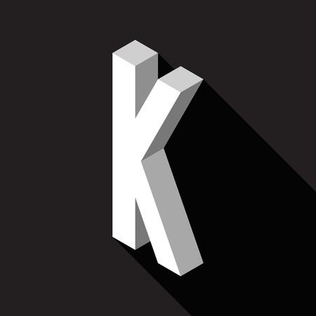 3d Letter K logo icon design template element. Vector illustration