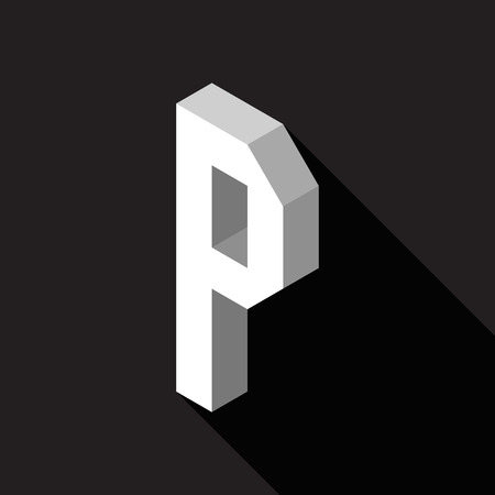 3d Letter P logo icon design template element. Vector illustration Stock Illustratie