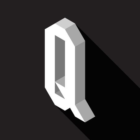 3d Letter Q logo icon design template element. Vector illustration
