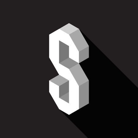3d Letter S logo icon design template element. Vector illustration Stock Illustratie