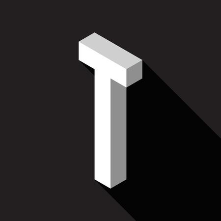 3d Letter T logo icon design template element. Vector illustration Stock Illustratie