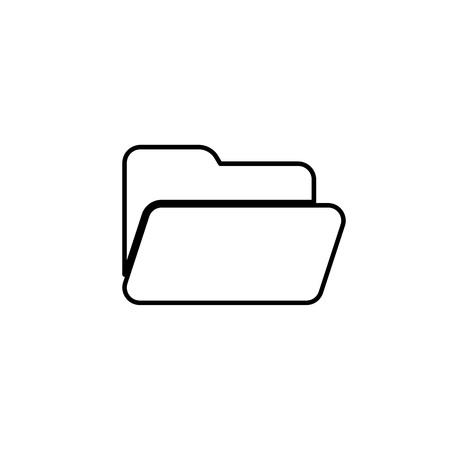 File or folder line vector icon