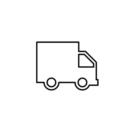 Truck line icon, delivery van, service concept, Vector illustration