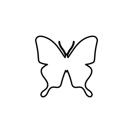 Butterfly line icon, Vector illustration