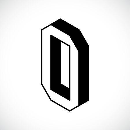 3d Letter O logo icon design template element. Vector illustration