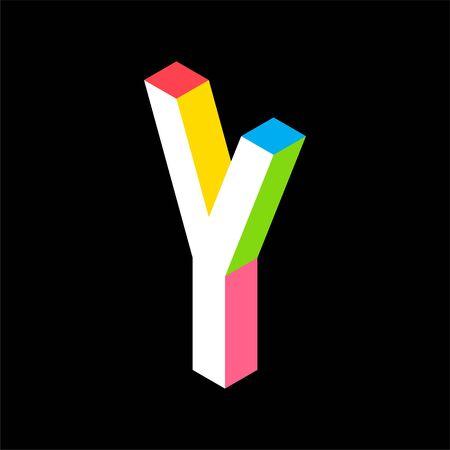 3d Colorful Letter Y logo icon design template element. Vector illustration