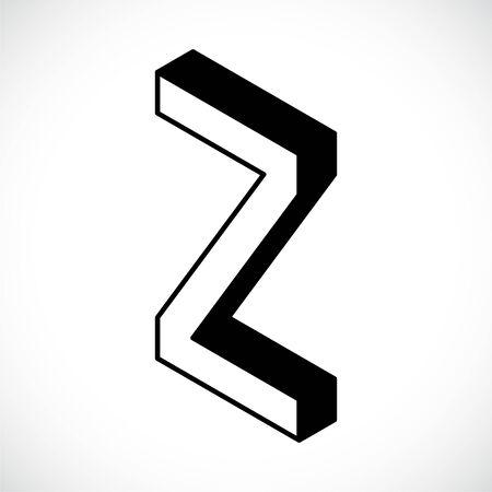 3d Letter Z logo icon design template element. Vector illustration