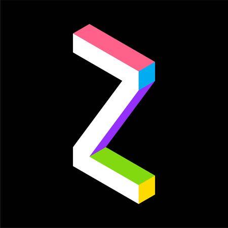 3d Colorful Letter Z logo icon design template element. Vector illustration Illusztráció