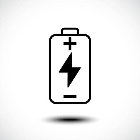 Battery Charging icon. Flat design for web or mobile app. Vector illustration Illusztráció