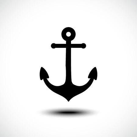 Sea anchor icon. Vector illustration
