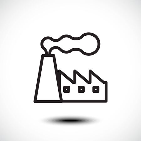 Factory line icon. Vector illustration Stock fotó - 138155365