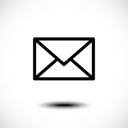 Mail icon. Envelope sign. Vector Illustration.