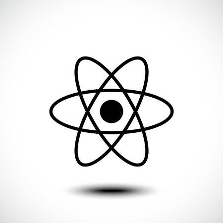 Atom icon, atom symbol. Vector illustration