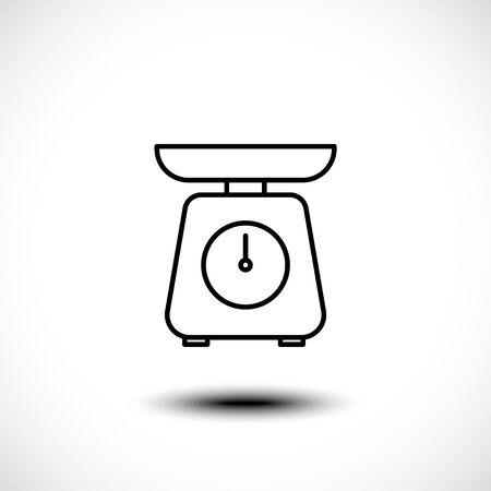 Kitchen scale line icon. Vector illustration