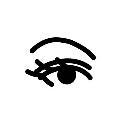 Ladys eye line icon. Vector illustration