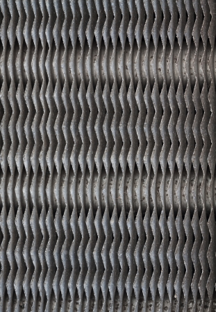 airflow: Metal vent of the air conditioning compressor