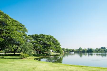 Lake view at Suan Luang Rama 9 Park, Thailand Standard-Bild