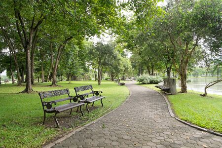walking path: Walking path in Suan Luang Rama 9 Public Park, Thailand