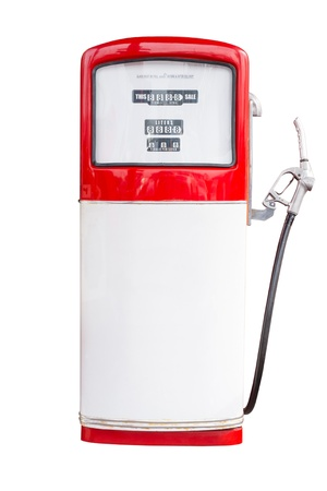 Vintage Gasoline Pump Isolated on white Stock Photo - 22084749
