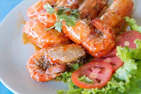 川海老の甘酸っぱいソース タイ料理