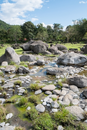 Stones and Hot Spring Stream in Fang Hot Spring National Park photo