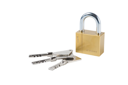 master key: Key and Master Key isolate on white with clipping path, Top Security concept