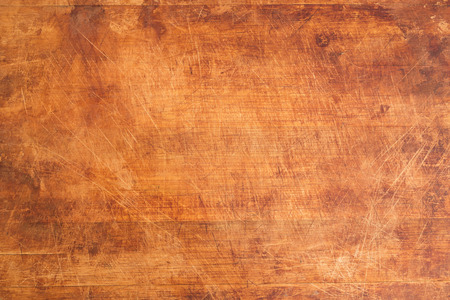 Vintage Scratched Wooden Cutting Board Background Texture