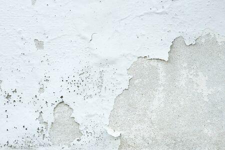 White Paint Concrete Wall Peel off Background Textured Standard-Bild