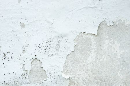White Paint Concrete Wall Peel off Background Textured Reklamní fotografie