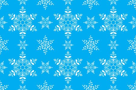 Vintage Design Snowflake Seamless Pattern Background Vector for Christmas and New Year Decoration