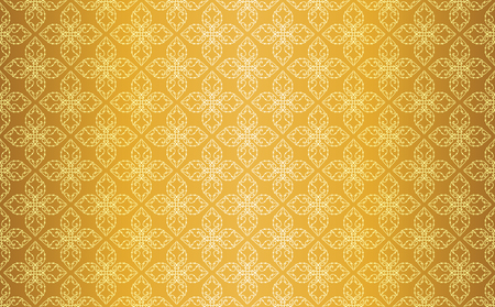 Gold Thai Style Vintage Line Art Seamless Pattern Background