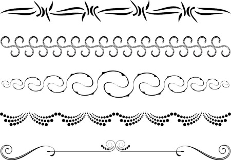 leaf line: Design elements on white background