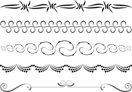 grecas: Elementos de dise�o sobre fondo blanco Vectores