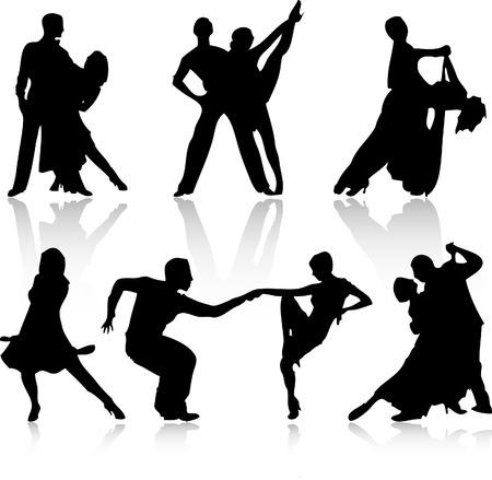 pareja bailando: baile de personas  Vectores