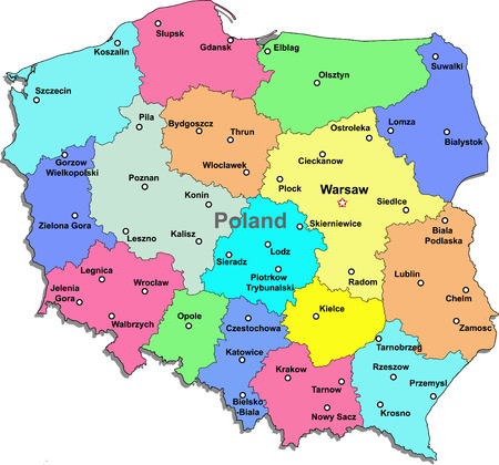 Poland map Illustration
