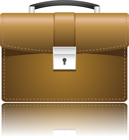 briefcase icon: Caso de cartera de cuero