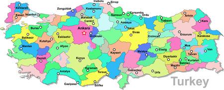 Turkey map Illustration