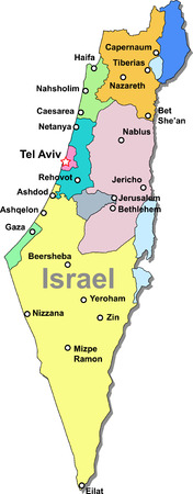 Color Israel map Illustration