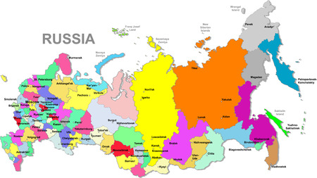 moscow: Russian federation map