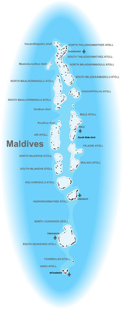 Maldives map Illustration