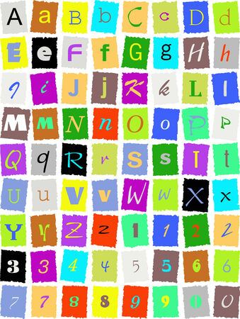 English alphabet Illustration