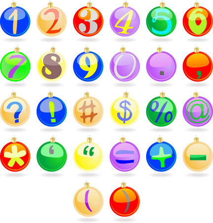 New year balls with numbers Illustration