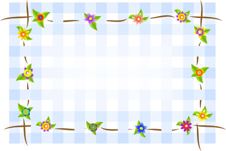 clout: Flower square background