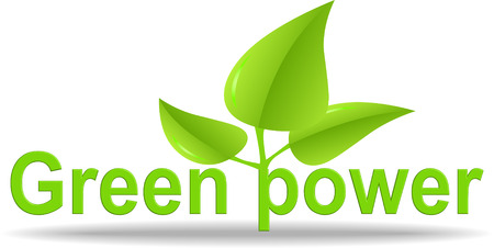 overuse: Green power illustration and logo Illustration
