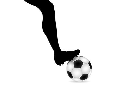 Foot over ball illustration Stock Vector - 8242945